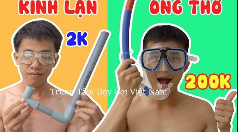 cách làm ống thở dưới nước