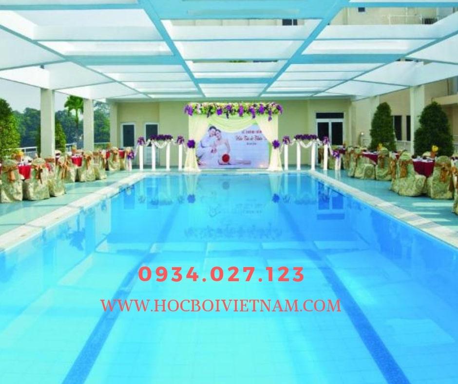 Học bơi quận 3 - hồ bơi khách sạn VictoryA